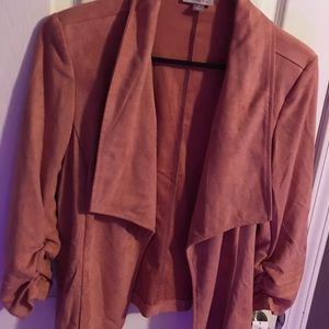Dusty Rose Pink Suede Jacket